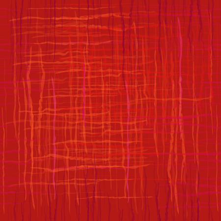 Seamless red texture with wavy lines intersecting. Vector abstract background. Copy that square to the side,you'll get seamlessly tiling pattern which gives the resulting image. Ilustração
