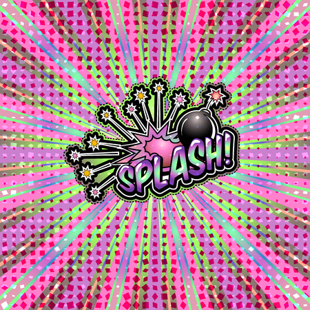 The word splash! is written in the original font on a bright, luminous background.