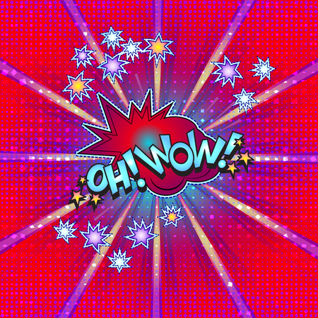The word Oh! Wow! is written in the original font on a bright, luminous background.