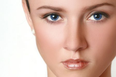 Close-up portrait of a beautiful woman with blue eyes Stock Photo - 3642403