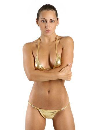 Attractive young voluptuous woman in bikini Stock Photo - 5634931
