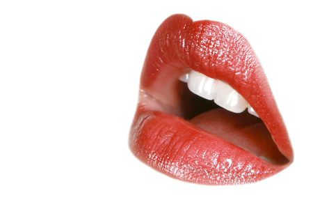 Beautiful lips isolated on white background Stock Photo - 5663055