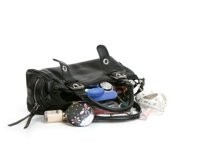 Female handbag with all contents