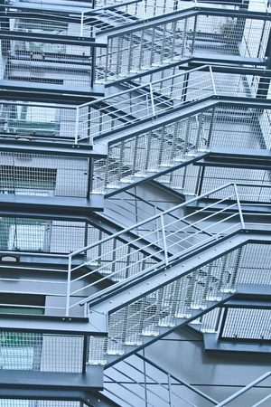 external fire escapes in a modern building Stock Photo - 8397689