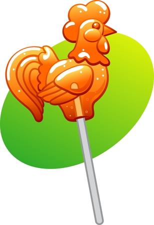 Rooster lollipop
