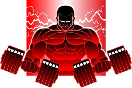 Bodybuilding-Mann Standard-Bild - 76081582