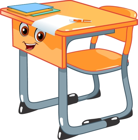 School desk and a chair