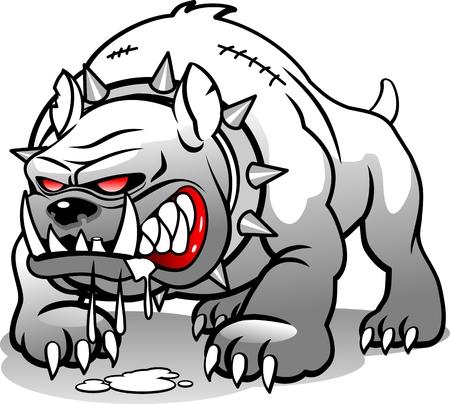 angry dog Illusztráció