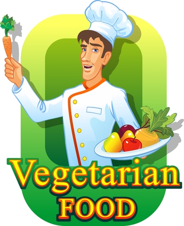Vegetarian cooking Illustration
