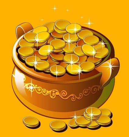 Topf mit Gold Standard-Bild - 90318986