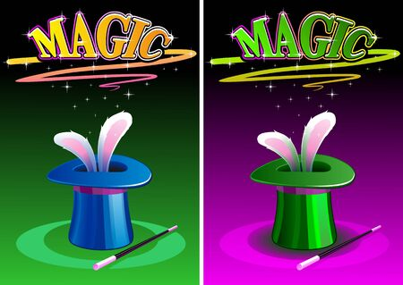 Rabbit ears appear from the magic top hat