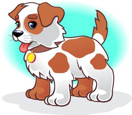 cute puppy cartoon Ilustracje wektorowe