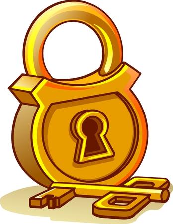 doorknob: door lock Vector illustration.