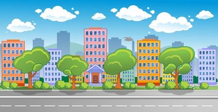 City street panorama