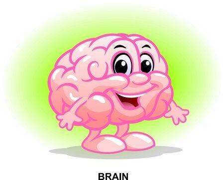 The human internal organ. Funny character. Healthy brain.