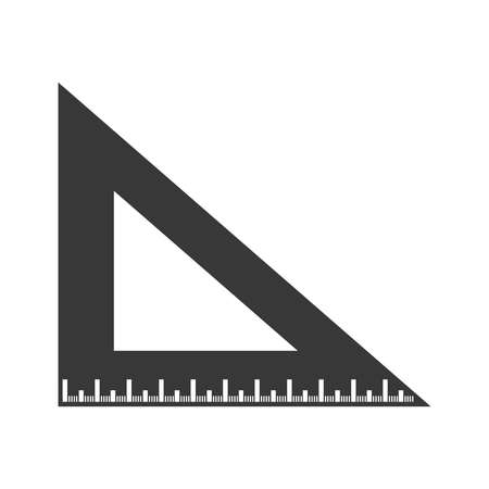 Ruler in a triangular shape on a white background, vector Illustration