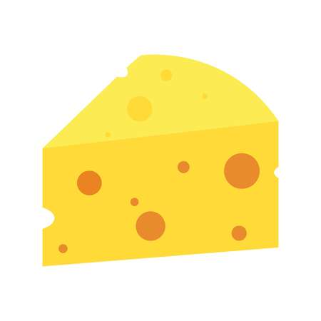 Cheese on a white background, vector