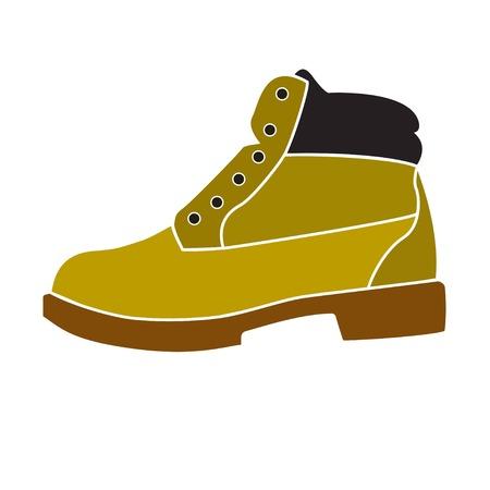 Boot on white background, vector Vetores