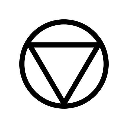 Inverted Triangle Vector Icon