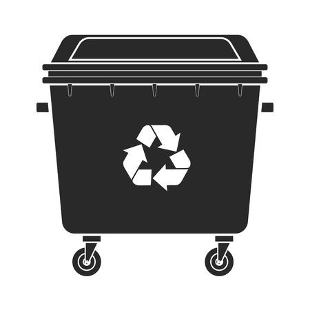 Icona del bidone della spazzatura vettoriale