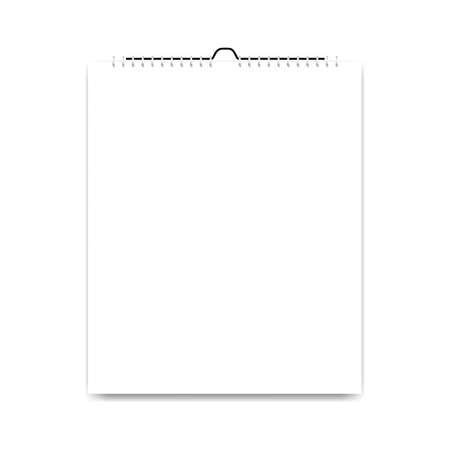 Blank calendar, card design on white background, vector