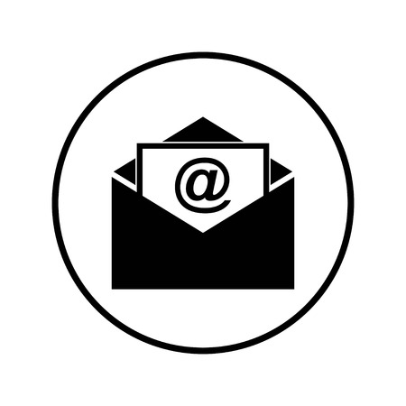 Vecteur d'icône de courrier électronique. Icône de courrier électronique. Illustration de l'enveloppe. Un message. Mile, en cercle