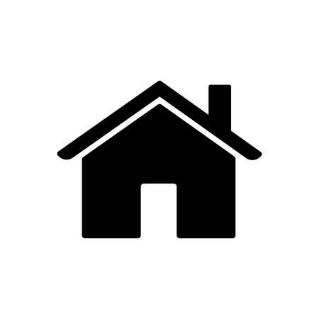House Icon. Home symbol isolated on white background. Vector home illustration. Flat style home icon, vector