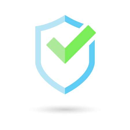 shield icon vector. security and safety badge, with a check mark. Vector Illustration