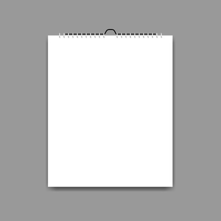 Paper sheet. A piece of paper on a gray background with shadow, vector Ilustração