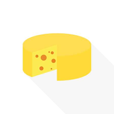 cheese icon. Slice of cheese, vector