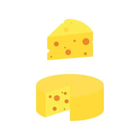 cheese icon. Two slices of cheese in the cut. Vector  イラスト・ベクター素材
