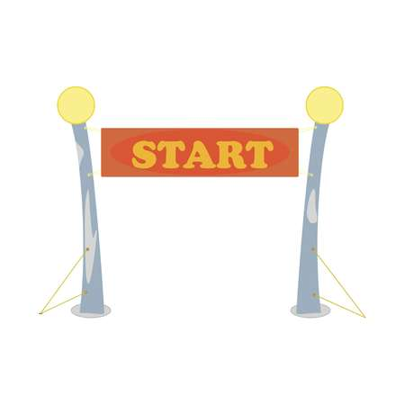 Start with the word start on a white background, vektor