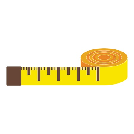 Yellow meter on white background, vector Illustration