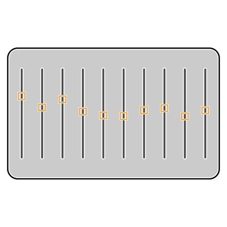 Equalizer on white background, vector Ilustração