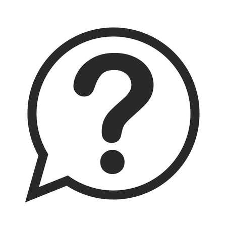 Vettore icona punto interrogativo Vettoriali