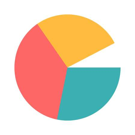 The icon of a circle divided into sectors, vector 일러스트