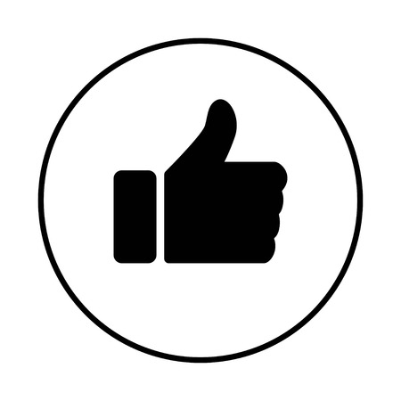like icon vector. Thumbs up icon. social media icon. Like and dislike icon. Thumbs up and thumbs down on white background 矢量图像