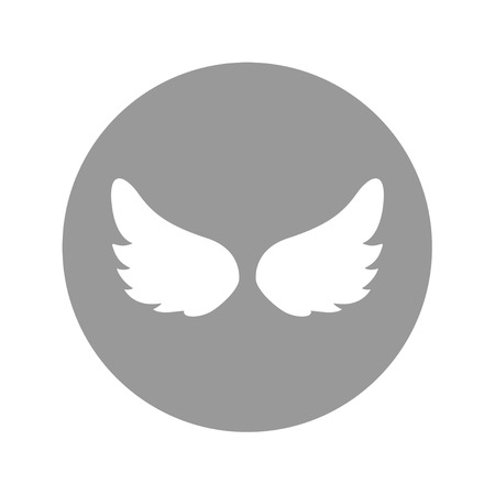 Angel wings icon, vector