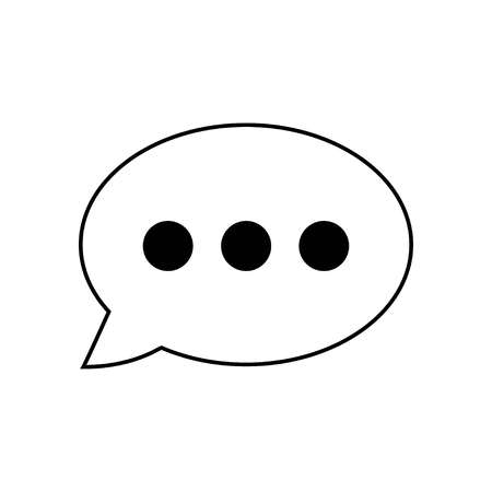 Chat icon vector. Chat Icon in trendy flat style. Speech bubble symbol in white, vector Ilustração