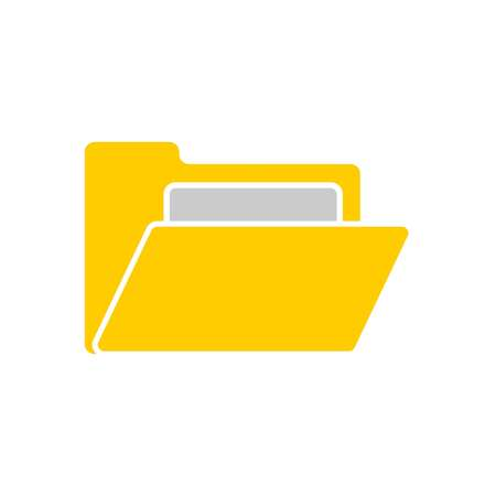 open folder icon. Open folder with documents. Folder icon isolated, vector
