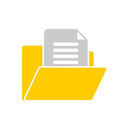 open folder icon. Open folder with documents. Folder icon isolated on white background. Vector Иллюстрация