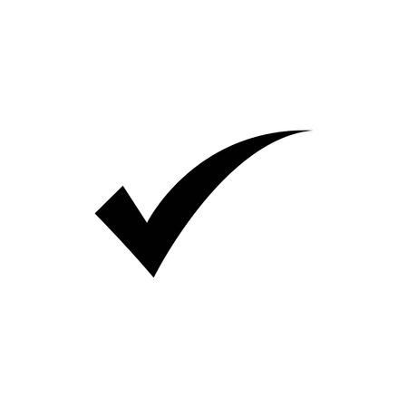 check icon vector. check mark icon. check list button icon on white background, vector