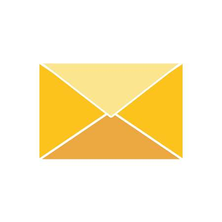 Envelope icon on white background, vector