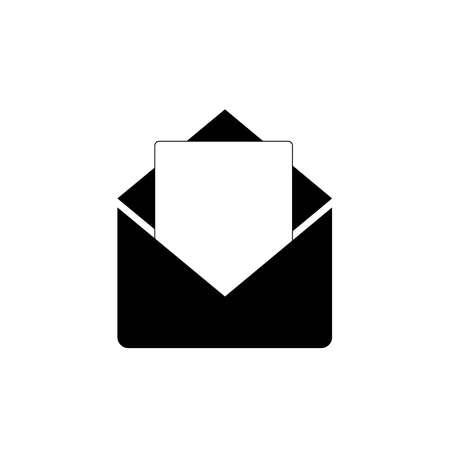 Envelope icon, black and white, vector Иллюстрация