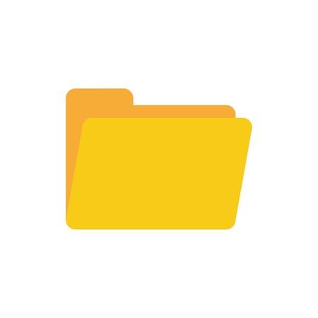 open folder icon. Folder icon isolated on white background, vector