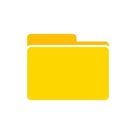 open folder icon. Folder on white background, vector 向量圖像
