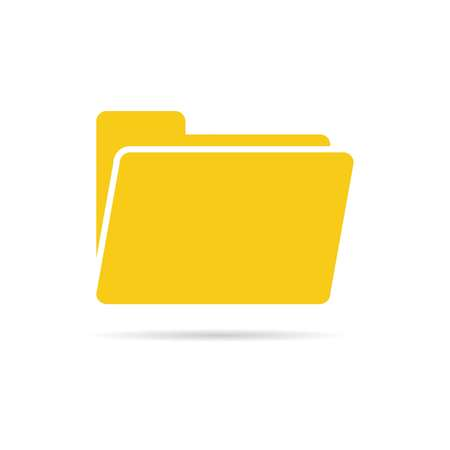 open folder icon. Folder icon isolated on white background with shadow, vector