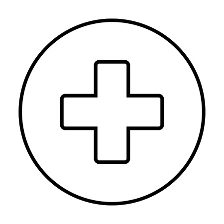Plus Icon vector. Add icon. Addition sign. Medical Plus icon on a white background, vector Иллюстрация