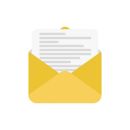 open folder icon. Open folder with documents. Vector