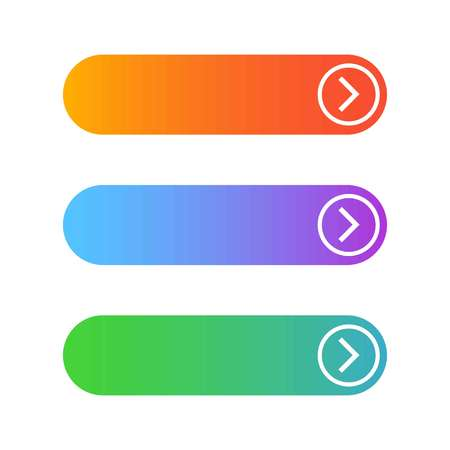 Empty three web buttons on a white background, vector Иллюстрация